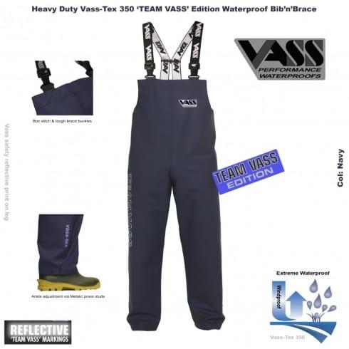 Vass Team 350 Bib and Brace, Lightweight, Waterproof