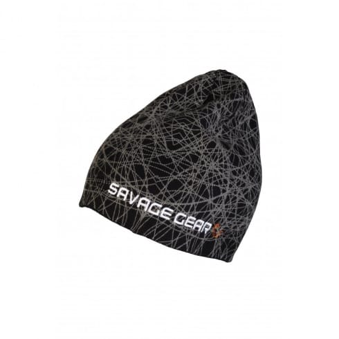 Savage Gear Knit Geometry Fishing Beanie Black