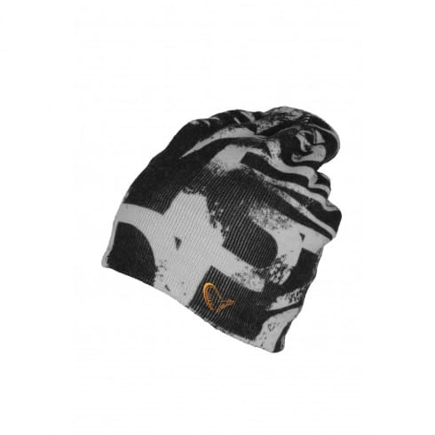 Savage Gear Printed Fishing Beanie Black/Grey