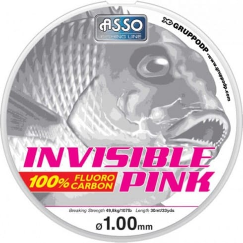 Asso Invisible Pink Fluorocarbon Line