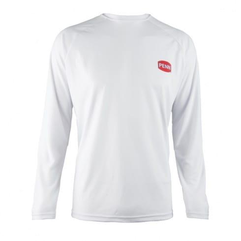 Penn Long Sleeve T-Shirt, White, Blue
