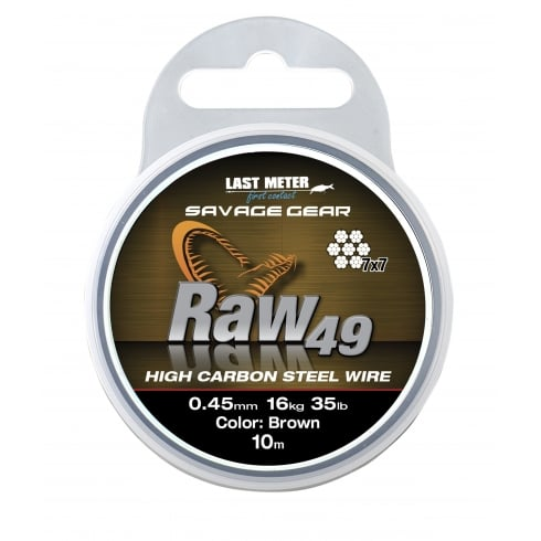Savage Gear Raw49 Uncoated Brown stainless steel wire