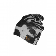 Printed Fishing Beanie Black/Grey