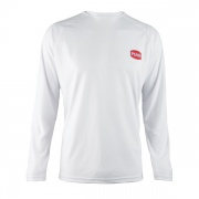 Long Sleeve T-Shirt, White, Blue