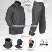 Grey Lightweight Waterproof Jacket with Trousers, Small to 3XL
