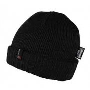 Eiger Hat Tightly Knitted Black/Grey 2-Tone