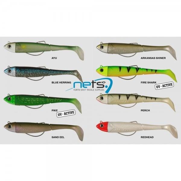 DAM kick-s minnow weedless paddle tail fire shark 9cm.