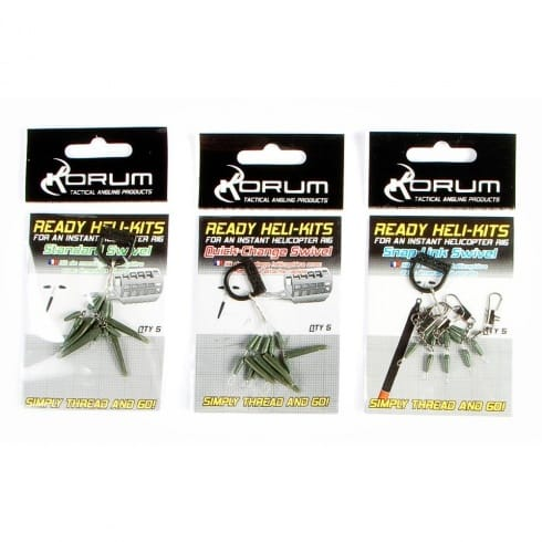 Korum Ready Heli Kits Snap Link Swivel
