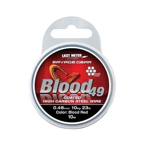 Savage Gear Blood 49 Red Wire Coated