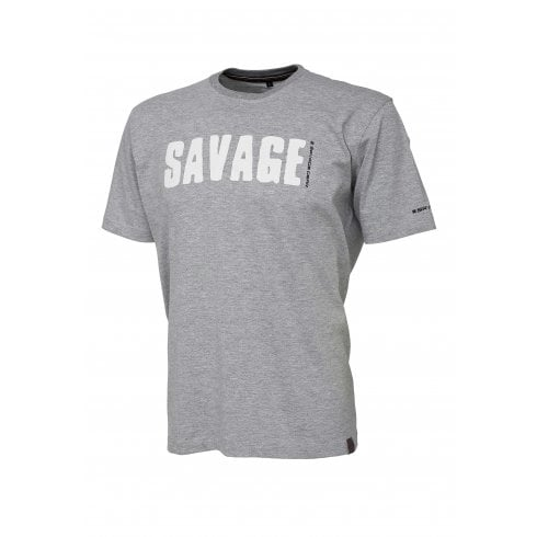 Savage Gear Simply Savage Tee Shirt Light Grey Melange