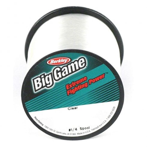 Berkley Big Game Mono Line Clear 4oz spools