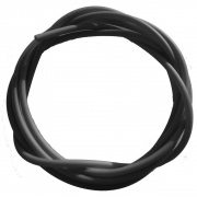 black silicone tubing for fishing