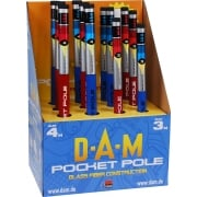 Dam Telescopic Pocket Pole 3m and 4m Fibreglass